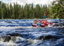 Спуск по реке Пистайоки в Карелии (7 фото)